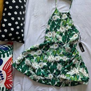 BNWT Lulus Palm Leaf Cocktail Dress